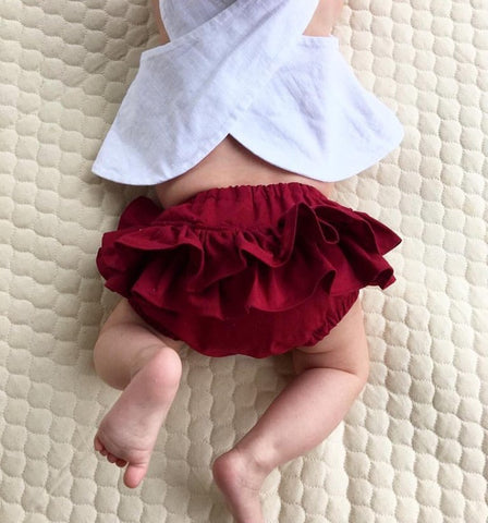 Cotton Ruffle Bloomers - 12 colours