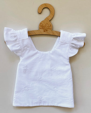 White Cotton Pinafore Set