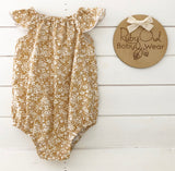 Wheat Floral Romper