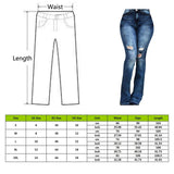 Women High Waist Flare Jeans Skinny Denim Pants Sexy Push Up Trousers Stretch  Bottom Jean - City Chick Fashions LLC