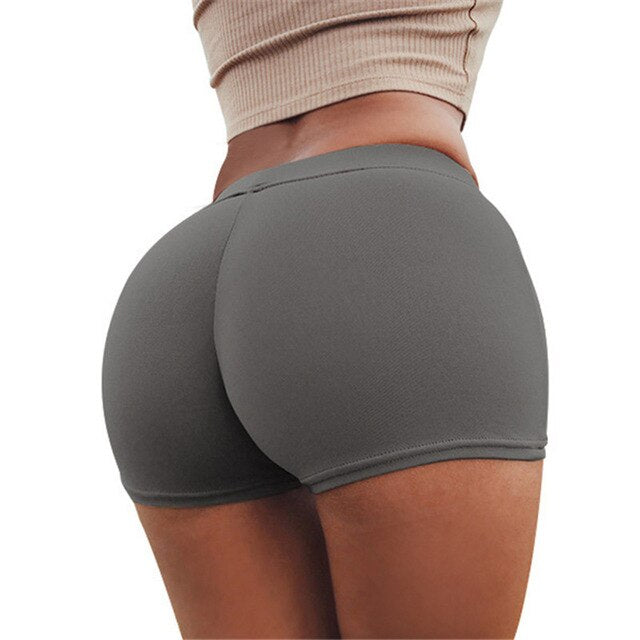Sexy Shorts Women Sports Wear Fitness Short Pants Skinny Female Push Up Gym Clothing Solid Color Elastic Breathable Flex - City Chick Fashions LLC