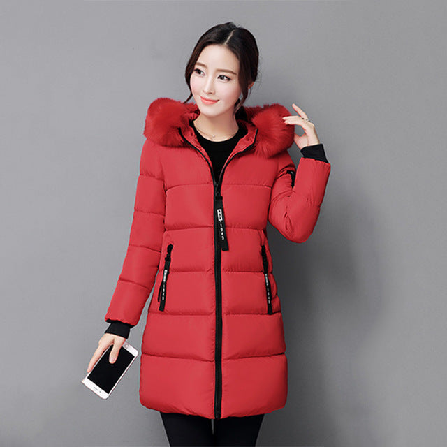 women parkas cotton hooded long  winter jacket women clothes warm coat ladies outwear casaco - City Chick Fashions LLC