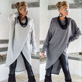 Women Long Sleeve Sweater Ladies Casual Loose Solid O-Neck Jumper Pullover Tops - City Chick Fashions LLC