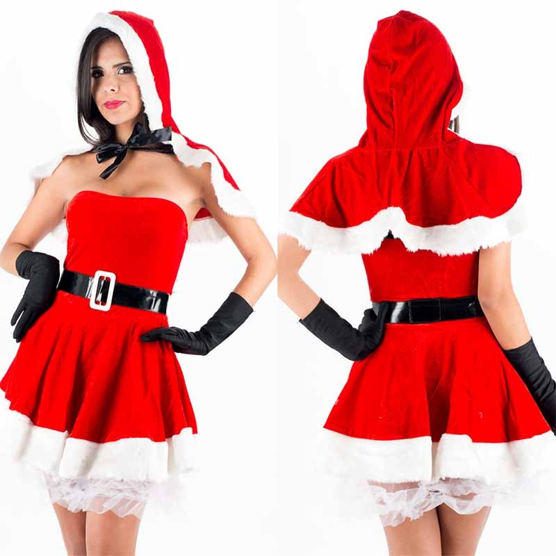 Sexy Lingerie Women Nurse Fancy Dress Costume Cosplay Outfit Set Santa Women - City Chick Fashions LLC