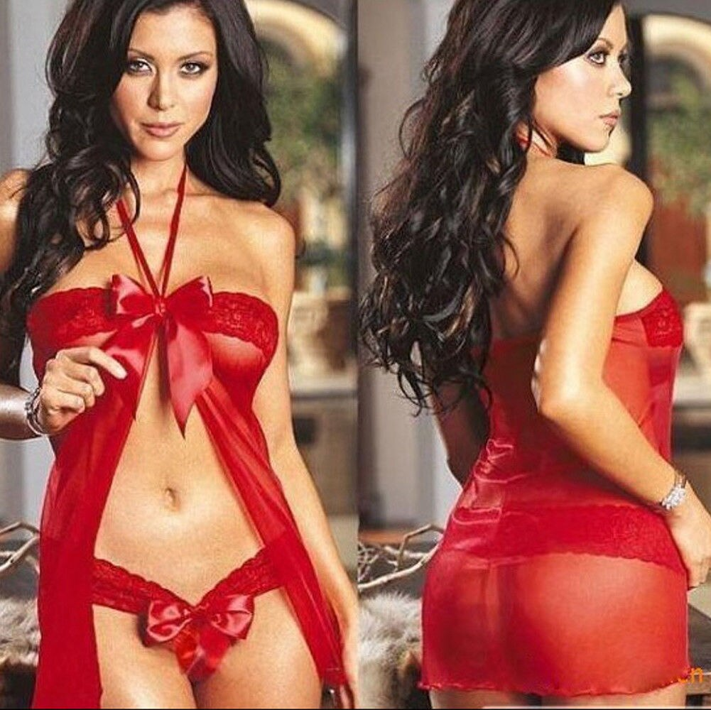 Brand New Women Exotic Sets Sexy Women's Lingerie Halter Pure Color Babydoll Sleepwear - City Chick Fashions LLC