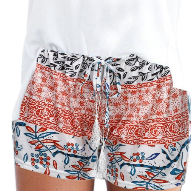 New Fashion Shorts Women Sexy Hot Summer printed High Waist Shorts Loose Casual Short feminino Plus Size## - City Chick Fashions LLC