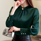 long sleeve women shirts womens tops and blouses chiffon blouse shirt - City Chick Fashions LLC