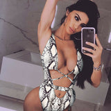 Women Girls One-Piece Leopard Printed Swimsuit Bandage Monokini - City Chick Fashions LLC