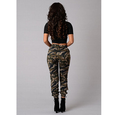 women plus size women trousers Camouflage printed leggings women jeans - City Chick Fashions LLC