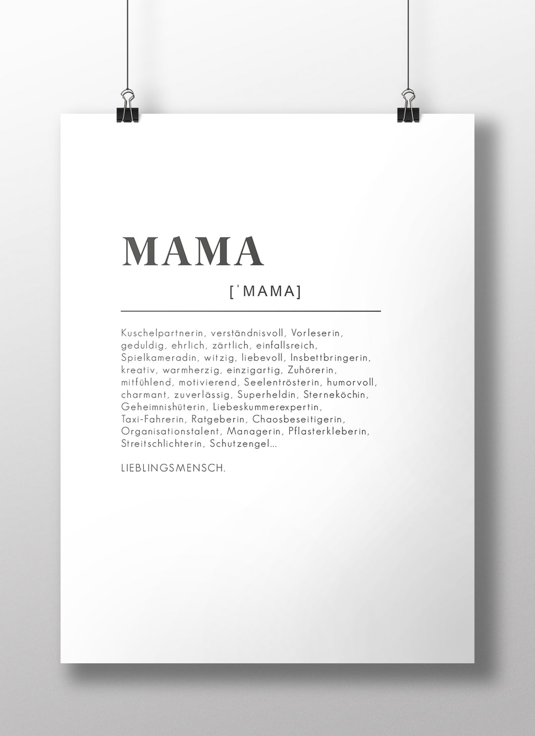 Poster Definition Mama