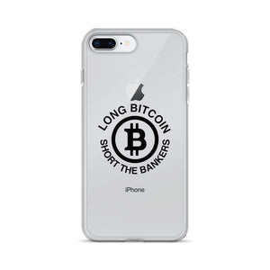 Long Bitcoin Short The Bankers iPhone Case