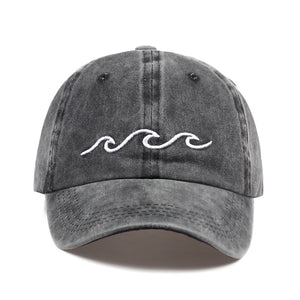 Dark Gray Wave Baseball Hat