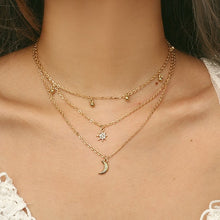 Load image into Gallery viewer, Gold Multi-Layer Necklaces