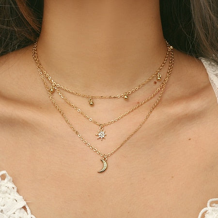 Gold Multi-Layer Necklaces