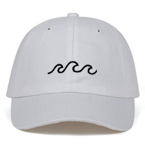 White Wave Baseball Hat