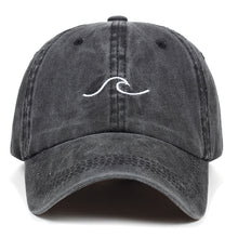 Load image into Gallery viewer, Dark Gray Wave Baseball Hat