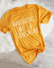 "Load image into Gallery viewer, ""Margaritas Lime & Sunshine"" T-Shirt"