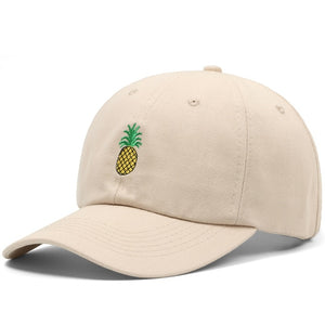 Khaki Pineapple Baseball Hat