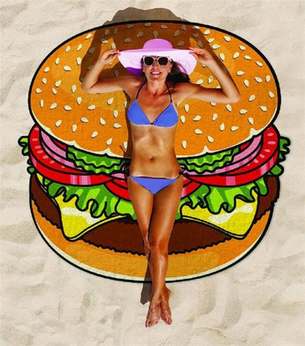 Hamburger Waterproof Beach Towels