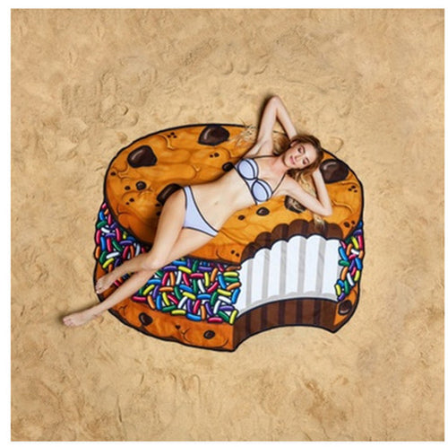 Ice Cream Sandwich Waterproof Beach Towel