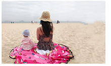 Load image into Gallery viewer, Pink Donut Waterproof Beach Towel