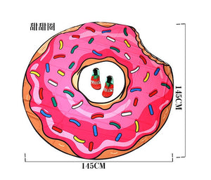 Pink Donut Waterproof Beach Towel