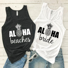 "Load image into Gallery viewer, ""Aloha Beaches"" Pineapple Tank"