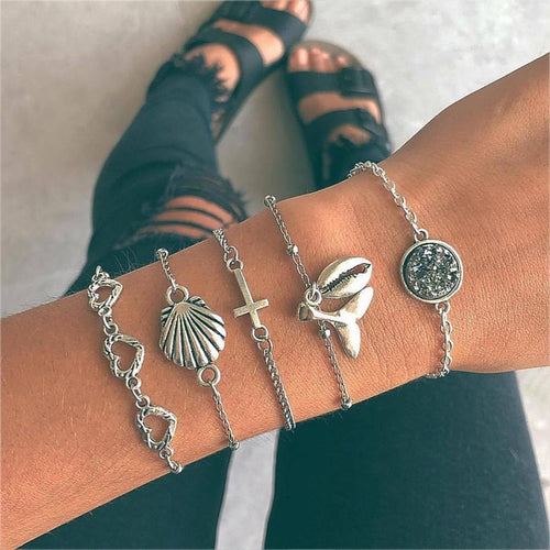Sea Shell Heart Bracelet