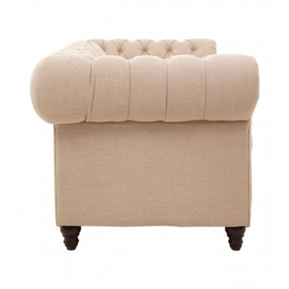 3 Seater Beige Linen Sofa in Seating from Oriana B. www.orianab.com