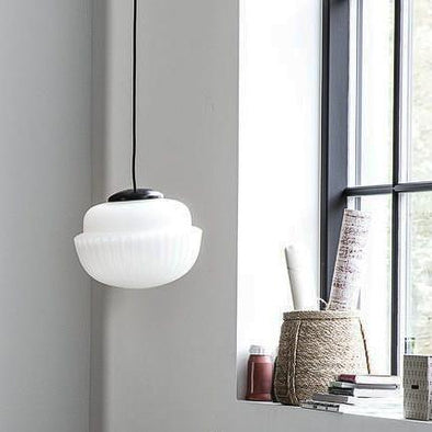 Acorn Ceiling Pendant | White in Lighting from Oriana B. www.orianab.com