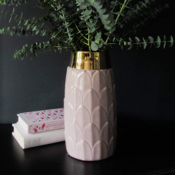 Art Deco Inspired Vase | 30 CM in Vases & Plant Pots Rose Pink from Oriana B. www.orianab.com