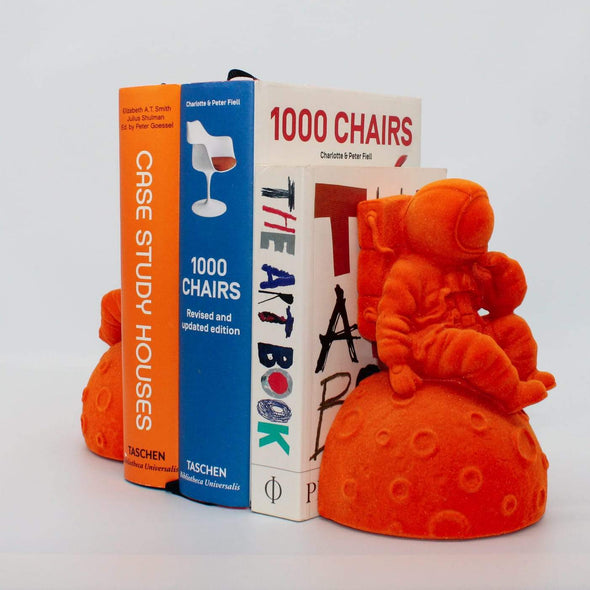 Astronaut Bookends | Orange in Ornaments from Oriana B. www.orianab.com