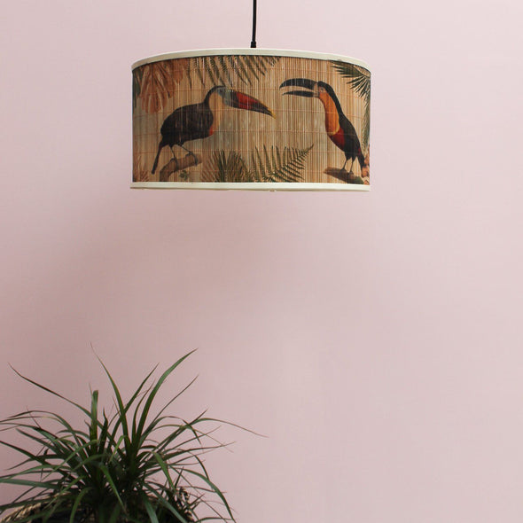 Bamboo Toucan Ceiling Pendant in Lighting from Oriana B. www.orianab.com