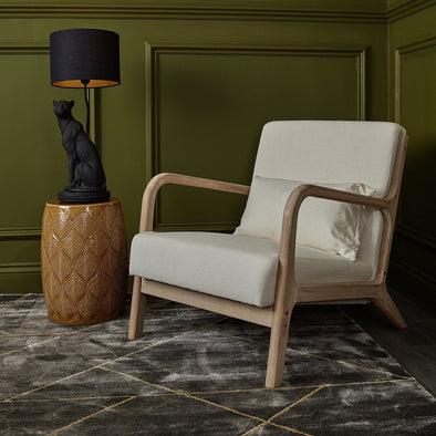 Beige Cream Armchair in Seating from Oriana B. www.orianab.com