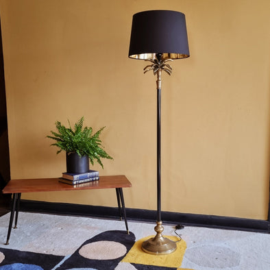 Black and Gold Palm Floor Lamp in Lighting from Oriana B. www.orianab.com