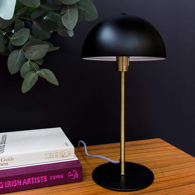 Black Art Deco Lamp | 39cm in Lighting from Oriana B. www.orianab.com