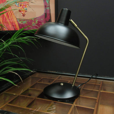 Black desk lamp | Retro style in Lighting from Oriana B. www.orianab.com