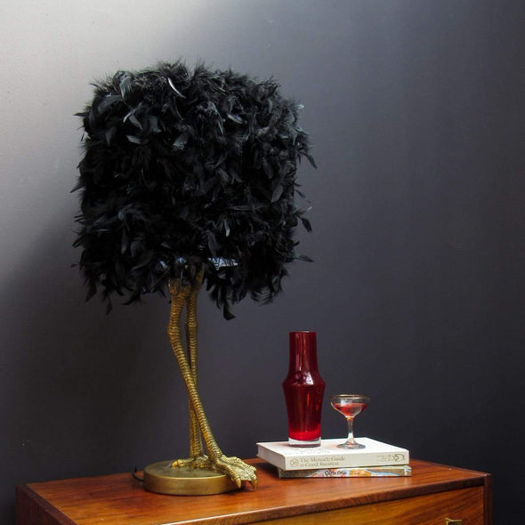 Black Feather | Table Lamp in Lighting from Oriana B. www.orianab.com