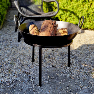 Black Firepit in Outdoor from Oriana B. www.orianab.com