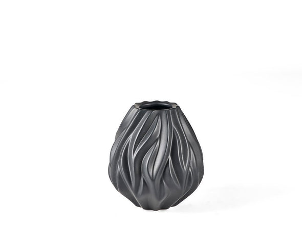 Black Flame Vase | 2 sizes available in Vases & Plant Pots from Oriana B. www.orianab.com