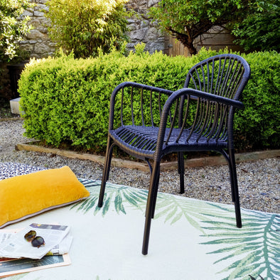 Black Garden Chair in Outdoor from Oriana B. www.orianab.com