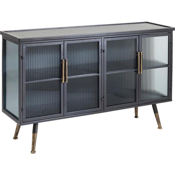 Black Metal Cabinet | 4 Doors in Cabinets & Storage from Oriana B. www.orianab.com