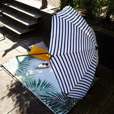 Black & White Garden Umbrella in Outdoor from Oriana B. www.orianab.com