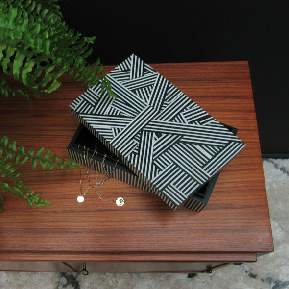Black & White Storage Box in Storage from Oriana B. www.orianab.com