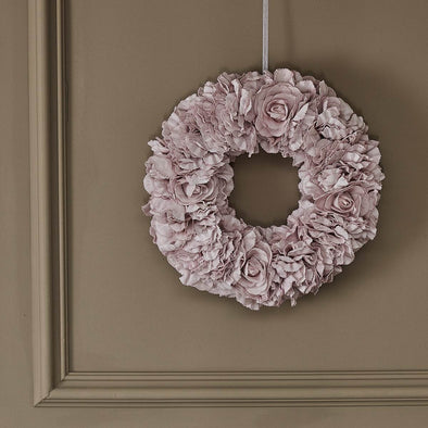 Blush Pink Roses Wreath in Wall Art from Oriana B. www.orianab.com