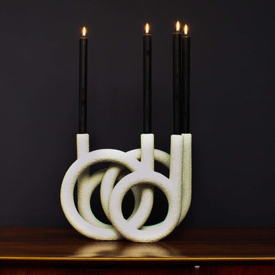 Candle Holder | White in Candles & Holders from Oriana B. www.orianab.com