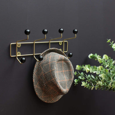 Coat Rack | Black & Gold in Storage from Oriana B. www.orianab.com