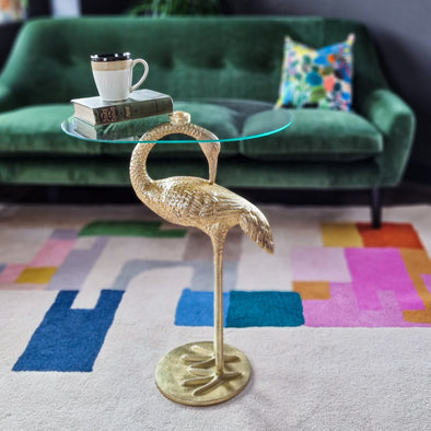 Crane Side Table | Gold in Tables from Oriana B. www.orianab.com