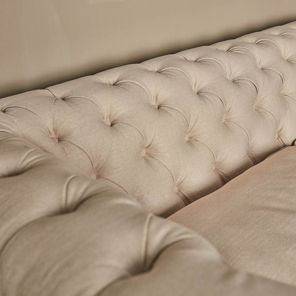 Cream Linen Chesterfield in Seating from Oriana B. www.orianab.com