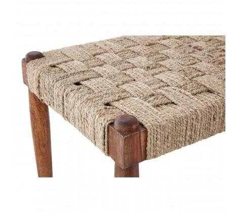 Erno Bench | Woven Seat and Wooden Frame in Seating from Oriana B. www.orianab.com